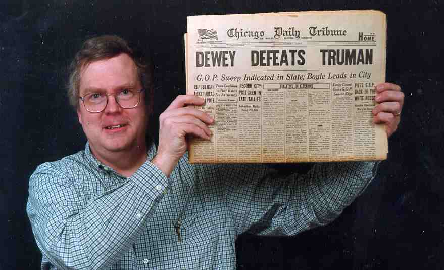 Owen Youngman and the infamous Tribune he bought on eBay.