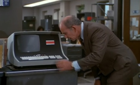Lou Grant meets the future of newspaper technology, 1977
