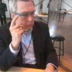 Owen Youngman at Google New York to pick up Google Glass, June 2013. Photo by Mark Skala.
