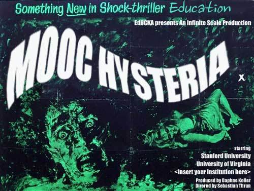 """MOOC hysteria"" poster"