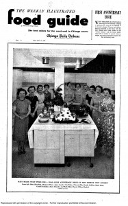 Chicago Tribune test kitchen and staff, March 1958.