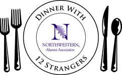 """""""Dinner with 12 Strangers"""" logo"""