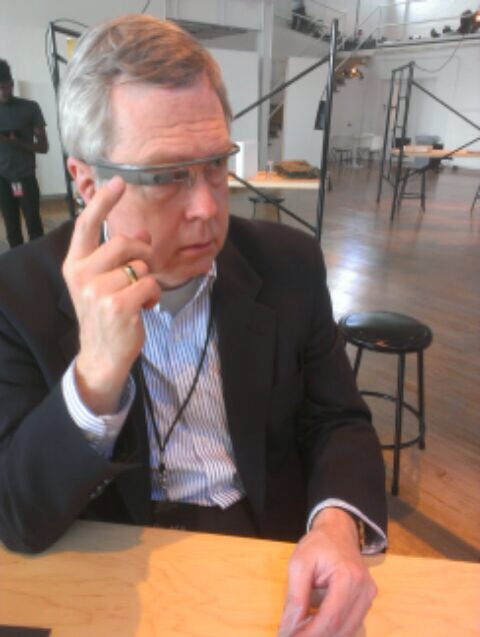 Owen Youngman at Google New York to pick up Google Glass