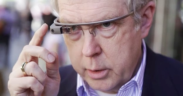 Owen Youngman tests Google Glass in New York City, 2013