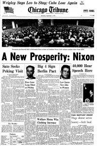 Tribune front page 9/4/1971