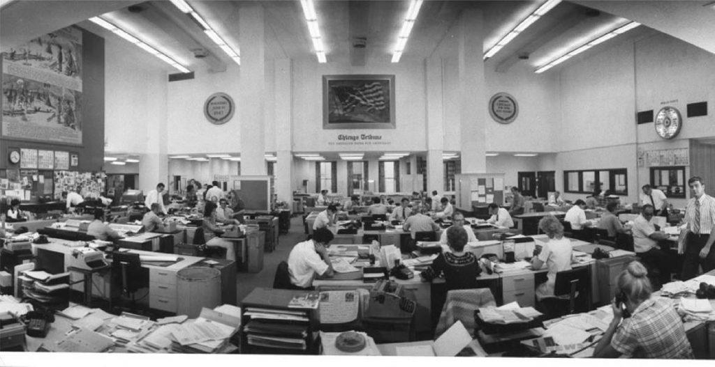 Tribune newsroom September 1971